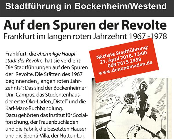 Stadtführungen in Frankfurt: Auf den Spuren der Revolte