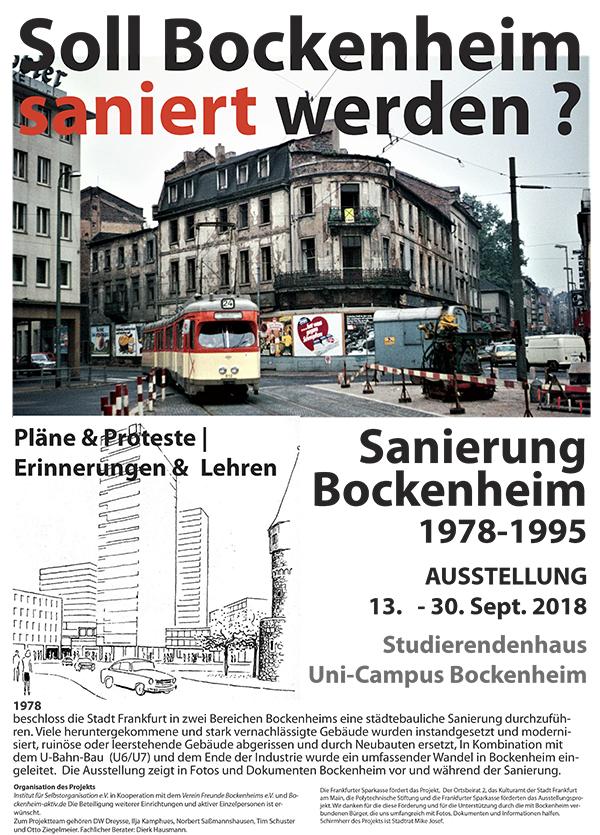 Ausstellung SANIERUNG BOCKENHEIM 1978-1995